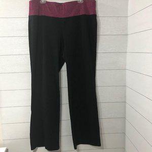 LIVI ACTIVE Purple Black Boot Athletic Yoga Pant